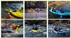 Bajada del Tromes en canoa